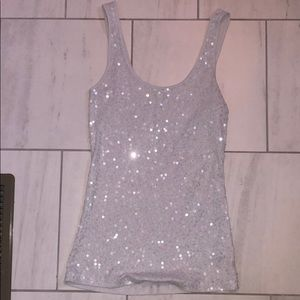 Sparkly sequined grey cami